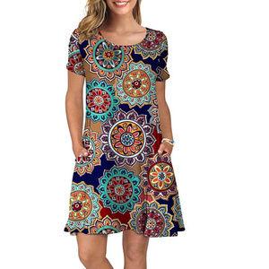 Dresses & Skirts - Summer Casual Dresses Short Sleeve